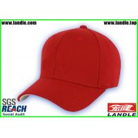 Wholesale Cotton Sports Fan Merchandise , Soft Red Custom Baseball Hats from china suppliers