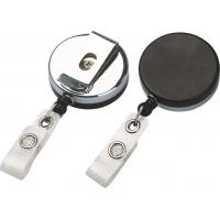 Wholesale Plastic Chrome Plated Badge Reel 750mm - 900mm Retractable ID Badge Reels With OEM 30239 from china suppliers