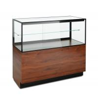 Wholesale Mahogany Laminate Lucite Locking Jewelry Display Case With Storage Cabinet from china suppliers