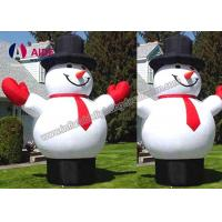 Wholesale CE / SGS Inflatable Holiday Decor Blow Up Cartoon Snow Man For Christmas from china suppliers