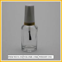 Wholesale Coloured Glass Nail Polish Containers , 15ml Bottle With Gold Line Cap from china suppliers