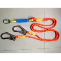 Wholesale Energy Absorbing Lanyard Safety Belt Rope Orange For Telecom / Shipbuilding Worker from china suppliers