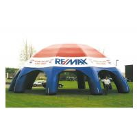 Wholesale White / Blue Inflatable Camping Tent 10mL X 10mW X 6mH Inflatable Event Tent PVC material from china suppliers