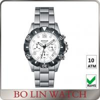 Wholesale Popular Waterproof 44mm Chronograph Stainless Steel Watches For Ladies from china suppliers