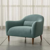 Wholesale Armed Carlo Mid-Century Fabric Chair in Optional Colors for Living Room from china suppliers