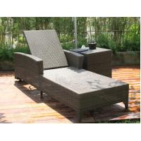 Wholesale RE-CL03-2 wicker lounge with adjustable back outdoor wicker chair design from china suppliers