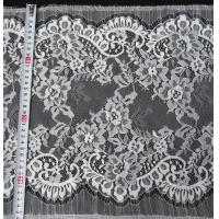 Wholesale Nylon Eyelet Lace Trim , Floral Scallop Bridal Lace For Evening Dress from china suppliers