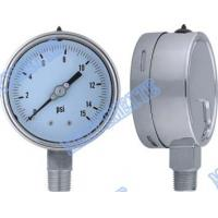 "Wholesale 4 Inch with 1/2"" connector bottom welding stainless steel pressure gauge from china suppliers"