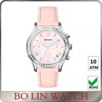 Wholesale Beautiful Genuine Leather Strap Ladies Stainless Steel Watch For Diving from china suppliers