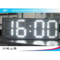 Wholesale White And White Led Clock Digital Clocks With Large Display , Long Lifespan from china suppliers