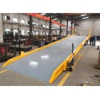 Wholesale 10t mobile hydraulic container loading ramp with 11x2m Overall Dimensions from china suppliers