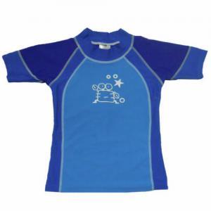 Wholesale BONZ Boys Short Sleeve Blue Swim Vest Swim Shirt from china suppliers