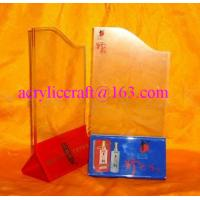 Wholesale Custom Triangle Transparent Acrylic Table Tent Plexiglass Poster Holder from china suppliers