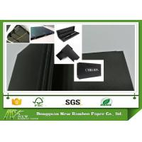 Quality Wood Pulp Black Paper Board 110 - 450gsm Smooth Face Black Chipboard MSDS for sale