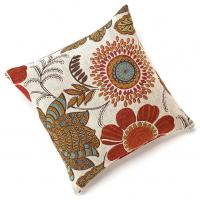 "Wholesale Gerbera Chenille 18""x18"" Square Colorful Floral Throw Pillow , Decorative Couch Pillows from china suppliers"