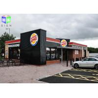 Wholesale Floor Standing Outdoor Lighted Signs For Business Silk Screen Burger King from china suppliers