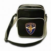 Buy cheap Leather Shoulder Bag with Adjustable Strap and 210D Polyester Lining, Measuring from wholesalers