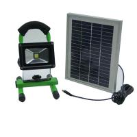 Buy cheap 10 watt waterproof rechargeable led flood light with solar panel from wholesalers