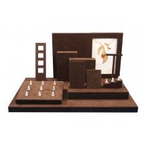 Wholesale Custom Handmade Brown Leatherette Jewelry Display Set MDF Jewellery Showcase Stand from china suppliers