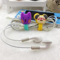 Wholesale Soft PVC Silicone Cable Winder , wire management systems for Earphone from china suppliers