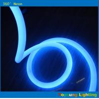 Wholesale blue 360 round neon flex light 24v 100leds/m for outdoor round diameter 25mm from china suppliers