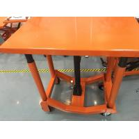 Wholesale Orange Post Mobile Scissor Lift Table High Strength For Air Conditioning from china suppliers