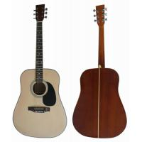 Wholesale White / Natural Sapele Plywood 6 String Acoustic Guitar 41 Inch AF4120-B from china suppliers