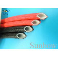 Quality Extruded Silicone Rubber Tube Reinforced With Non Alkaline Fiberglass Braid for sale