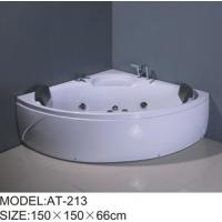 Wholesale 750W surfing pump Air Bubble Bathtubs corner 6 big jets adjustable Shower Holde from china suppliers