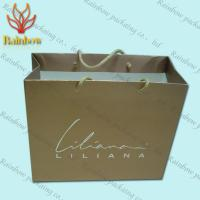 Wholesale Recycled Kraft Customized Paper Bags With Handles For Shopping from china suppliers