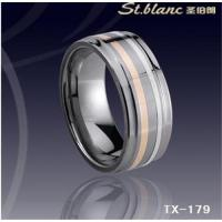 Wholesale tungsten ring with gold inlay TX-168 from china suppliers