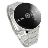 Quality Silver Black PAIDU Quartz Wrist Watch Turntable Dial Mens Clock Hours Gift for sale