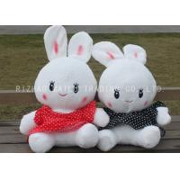 Wholesale White Stuffed RabbitToy Lace Red And Black Spotted Dress RabbitPlush Toys from china suppliers