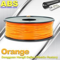 Wholesale Orange  3D Printing Materials 1.75mm ABS 3D Printer Filament In Roll from china suppliers