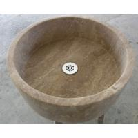 Buy cheap Travertine round sink from wholesalers