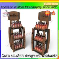 Buy cheap Wooden retail display stand for beers/wines from wholesalers