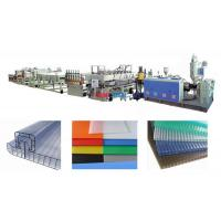 Wholesale Polycarbonate Hollow Plastic Sheet Production Line For PC Hollow Cross Section Sheet from china suppliers