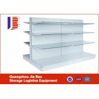 Wholesale Supermarket 50mm Pitch System Classic Tego Store Metal Gondola Storage Shelf from china suppliers