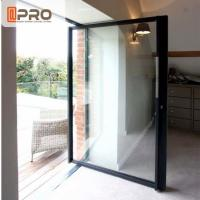 Wholesale Thermal Break Modern Aluminum Low - E Glass Pivot Door For Store / Double Pivot Door from china suppliers
