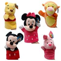 Wholesale Winnie Pooh Tigger Stitch Eyore Plush Finger Puppets Yellow Pink Blue from china suppliers