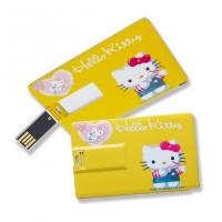 Wholesale Slim Card USB Flash Drives Full Color Printing Silk Printing Both Sides from china suppliers