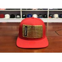 Wholesale Rivet Chain Personalized Child Snapback Hats Flat Brim 85% Acrylic + 15% Wool from china suppliers