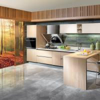 Wholesale Modern Design Laminated Wood Kitchen Cabinets , Built In 3d Drawing Kitchen Cabinets from china suppliers