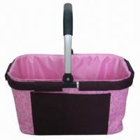 Wholesale Basket with 210D Polyester Lining, Made of Polyester, Suitable for Picnics/Shopping  from china suppliers