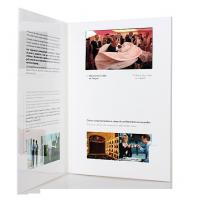 Wholesale fastivel / business gift lcd video brochure card with USB cable , Flip book - video from china suppliers