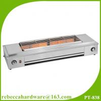 Wholesale Kitchen equipment / factory price stainless steel smokelesss bbq gas grill with fan from china suppliers