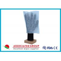 Wholesale 100% Polyester Paper Park Dry Body Cleaning Gloves 35GSM Square Shape from china suppliers
