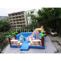 Wholesale 0.55mm PVC Tarpaulin Inflatable Jumping Castle Kids Outdoor Rainforest Run from china suppliers