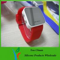 Wholesale Colorful Lights Up Silicone LED Watch For Children / Women With Custom Dial / Logo from china suppliers