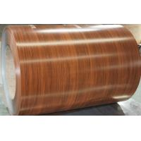 Buy cheap Color Coated Pre Painted Galvalume or Galvanized Coil 508MM / 610mm Coil Inner Diameter wooden color below 1.2mm thickne from wholesalers